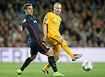 FC Barcelona's Andres Iniesta (r) and  Atletico de Madrid's  Antoine Griezmann during Champions League 2015/2016 match. April 5,2016. (ALTERPHOTOS/Acero)