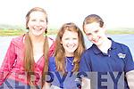 Katie Pierce-O'Shea, Donna McCarthy & Rachel Smyth at the Portmagee Regatta on Saturday.