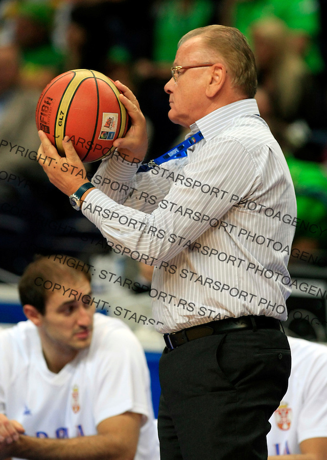 Duda Dusan Ivkovic, during round 2, group E, basketball game between Serbia and Turkey in Vilnius, Lithuania, Eurobasket 2011, Sunday, September 11, 2011. (photo: Pedja Milosavljevic)