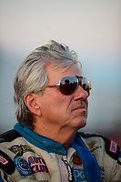 Sep 27, 2019; Madison, IL, USA; NHRA funny car driver John Force during qualifying for the Midwest Nationals at World Wide Technology Raceway. Mandatory Credit: Mark J. Rebilas-USA TODAY Sports