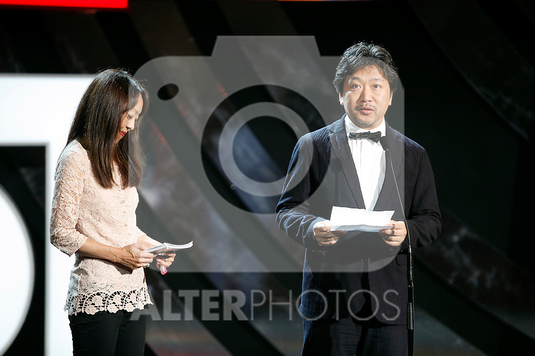 Hirakazu Kore-eda  during the 61st San Sebastian International Film Festival's opening ceremony, in San Sebastian, Spain. September 20, 2013. (ALTERPHOTOS/Victor Blanco)