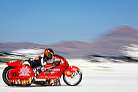 Speed Week 2007 Bonneville Salt Flats Wendover UT. # 930B 1998 Winks Custom Motorcycle 1650cc