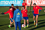 Yeray Alvarez, Alvaro Odriozola during the training of Spanish national team under 21 at Ciudad del El futbol  in Madrid, Spain. March 21, 2017. (ALTERPHOTOS / Rodrigo Jimenez)