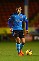 Baily Cargill of Fleetwood Town during the Sky Bet League 1 match between Walsall and Fleetwood Town at the Banks's Stadium, Walsall, England on 21 November 2017. Photo by Leila Coker.