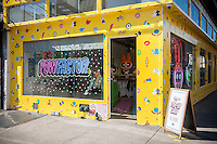 Powerpuff Girls pop up in New York on Friday, November 18, 2016. The Powerpuff Girls are characters in a Cartoon Network animated program.  (© Richard B. Levine)