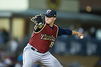 Scranton/Wilkes-Barre RailRiders relief pitcher Jacob Lindgren (19) in action against the Durham Bulls at Durham Bulls Athletic Park on May 15, 2015 in Durham, North Carolina.  The RailRiders defeated the Bulls 8-4 in 11 innings.  (Brian Westerholt/Four Seam Images)