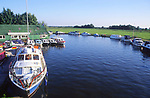 AMHK6B Boats Ludham bridge Norfolk Broads England