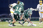 Placentia, CA 05/14/10 - Cole Russert (MC # 15), Ryan Kole (MC # 5) and Cole Sutliff (Foothill # 21) in action during the Mira Costa vs Foothill boys lacrosse game for the 2010 Los Angeles / Orange County CIF Championship.