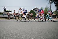 Lars Bak (DNK), Arthur Vichot (FRA) & Jens Voigt (DEU) just set up an attack (wich eventually will last untill the finish)<br /> <br /> Tour de France 2013<br /> stage 14: Saint-Pourçain-Sur-Sioule to Lyon, 191km