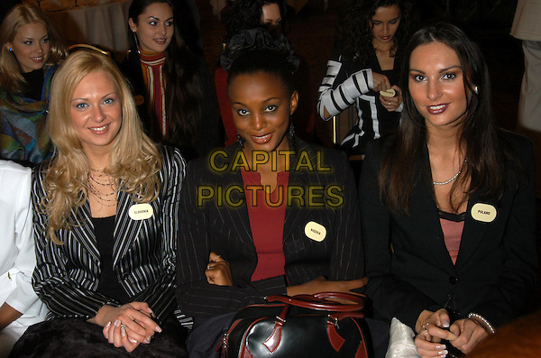 MISS SLOVENIA, MISS NIGERIA, MISS POLAND.MISS WORLD CONTESTANTS.www.capitalpictures.com.©Capital Pictures.