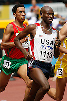 Bernard Lagat of the USA ran 3:41.68sec. in the 1st. round of the 1500m at the 11th. IAAF World Championships in Osaka, Japan on Saturday,August 25, 2007. Photo by Errol Anderson,The Sporting Image.