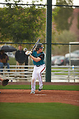 Miko Rodriguez (5) of Forest Hills Central High School in Ada, Michigan during the Under Armour All-American Pre-Season Tournament presented by Baseball Factory on January 14, 2017 at Sloan Park in Mesa, Arizona.  (Zac Lucy/Mike Janes Photography)