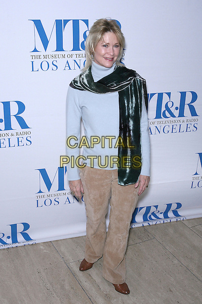 DEE WALLACE.Launch party for the second year of MTR?s She Made It: Women Creating Television and Radio - Arrivals held at the Museum of Television & Radio, Beverly Hills, California, USA..December 5th, 2006.full length blue top scarf beige trousers.CAP/ADM/ZL.©Zach Lipp/AdMedia/Capital Pictures