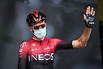 Chris Froome (GBR) Team Ineos at the Team Presentation before the start of Stage 1 of Criterium du Dauphine 2020, running 218.5km from Clermont-Ferrand to Saint-Christo-en-Jarez, France. 12th August 2020.<br /> Picture: ASO/Alex Broadway | Cyclefile<br /> All photos usage must carry mandatory copyright credit (© Cyclefile | ASO/Alex Broadway)