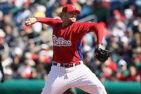 March 4, 2010:  Pitcher Drew Carpenter of the Philadelphia Phillies during a Spring Training game at Bright House Field in Clearwater, FL.  Photo By Mike Janes/Four Seam Images