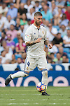 Sergio Ramos of Real Madrid in action during the La Liga match between Real Madrid and Osasuna at the Santiago Bernabeu Stadium on 10 September 2016 in Madrid, Spain. Photo by Diego Gonzalez Souto / Power Sport Images