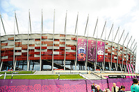 08.06.2012 Warsaw, Poland. THe National Stadium Warsaw awaits the European Championship Group A game between Poland and Greece from the National Stadium.....