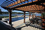 View of the pool and patio along with a view of the Navesink River at the home of Pete and Judi Dawkins in Rumson, New Jersey. CREDIT: Bill Denver for the Wall Street Journal..NYHODRUMSON