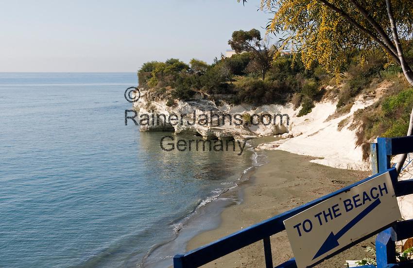 CYPRUS, near Limassol (Lemesos): Governor's Beach   ZYPERN, bei Limassol (Lemesos): Governor's Beach