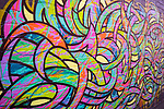 Murals and graffiti on street walls in Melbourne Australia