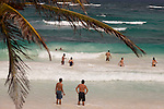 TULUM, MEXICO - APRIL 30, 2009: Tourists swim in the water in front of Ocho Tulum on April 30, 2009 in Tulum, Mexico.  (PHOTOGRAPH BY MICHAEL NAGLE)