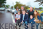 Cllr Michael Cahill with Joseph Crowe, Catriona Foley, Tracey Cronin, John O'Sullivan, Anthony O'Sullivan and Danielle Brosnan, Iveragh Park Residents Association, who are looking for better sight distance at the entrance to Iveragh Park and Cloverhill Close onto the Iveragh Road in Killorglin..