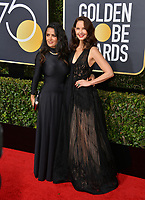 Ashley Judd & Salma Hayek at the 75th Annual Golden Globe Awards at the Beverly Hilton Hotel, Beverly Hills, USA 07 Jan. 2018<br /> Picture: Paul Smith/Featureflash/SilverHub 0208 004 5359 sales@silverhubmedia.com