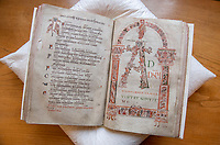 Woman's touch - 1000 year old book from the Royal Anglo-Saxon Convent of Wilton is conserved.