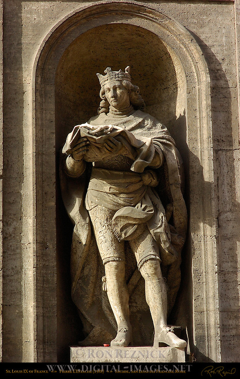 St Louis IX of France Pierre L'Estache Facade San Luigi dei Francesi Rome