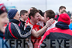 The Rathmore team celebrate defeating Dr Crokes in Fitzgerald Stadium on Sunday.