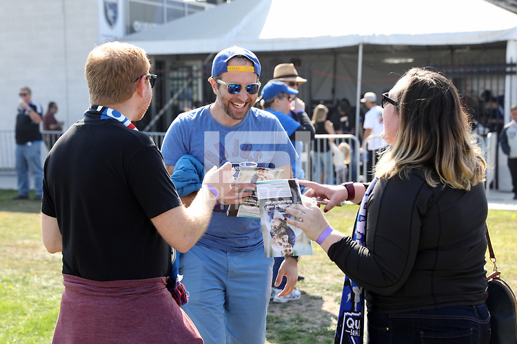 San Jose, CA - Sunday October 21, 2018: Fans prior to a Major League Soccer (MLS) match between the San Jose Earthquakes and the Colorado Rapids at Avaya Stadium.