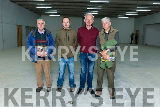 Dan Kelliher Dr Crokes, Brendan Spring Firies, Tom Kelliher County Board and Michael Michael O'Shea a tour of Kerry's Centre of Excellence in Fossa on Friday