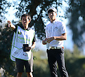 (R-L) Ryo Ishikawa (JPN), Hiroyuki Kato,.JANUARY 18, 2013 - Golf :.Ryo Ishikawa of Japan and his caddie Hiroyuki Kato during the second round of the Humana Challenge at the Arnold Palmer Private Course at PGA West in La Quinta, California, United States. (Photo by AFLO)