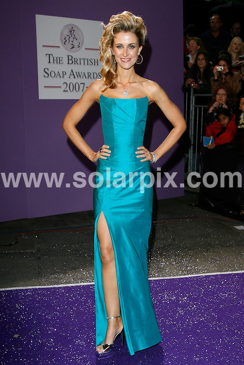 ALL ROUND PICTURES FROM SOLARPIX.COM.**WORLDWIDE RIGHTS*.Katherine Kelly arrives for the 2007 British Soap Awards at BBC TV Centre, White City, London..REF: 4003    PRS        DATE: 26.05.07.**MUST CREDIT SOLARPIX.COM OR DOUBLE FEE WILL BE CHARGED* *UNDER NO CIRCUMSTANCES IS THIS IMAGE TO BE REPRODUCED FOR ANY ONLINE EDITION WITHOUT PRIOR PERMISSION*