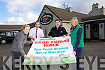 Mary, Enda, Ian O'Sullivan and Nuala Finnegan launch the  Fenit Spa Kerry Hospice Good Friday Walk dedicated to Gerry O'Sullivan - The Tankard, Starts at the Tankard at 11am Good Friday