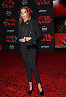 Georgie Flores at the world premiere for &quot;Star Wars: The Last Jedi&quot; at the Shrine Auditorium. Los Angeles, USA 09 December  2017<br /> Picture: Paul Smith/Featureflash/SilverHub 0208 004 5359 sales@silverhubmedia.com
