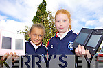 NINTENDO: Amy O'Connor and Tia O'Connor from 4th class in the Presentation Convent school in Listowel with their Nintendos which can be used for curriculum-based maths exercises.