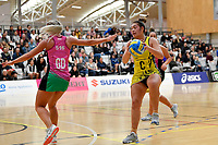 Central Manawa&rsquo;s Renee Savai&rsquo;inaea in action during the Beko Netball League - Central Manawa v Southern Blast at ASB Sports Centre, Wellington, New Zealand on Sunday 12 May 2019. <br /> Photo by Masanori Udagawa. <br /> www.photowellington.photoshelter.com