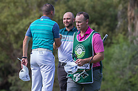 Sergio Garcia (ESP) and Andy Sullivan (ENG)  during the first round at the Nedbank Golf Challenge hosted by Gary Player,  Gary Player country Club, Sun City, Rustenburg, South Africa. 08/11/2018 <br /> Picture: Golffile | Heinrich Helmbold<br /> <br /> <br /> All photo usage must carry mandatory copyright credit (&copy; Golffile | Heinrich Helmbold)