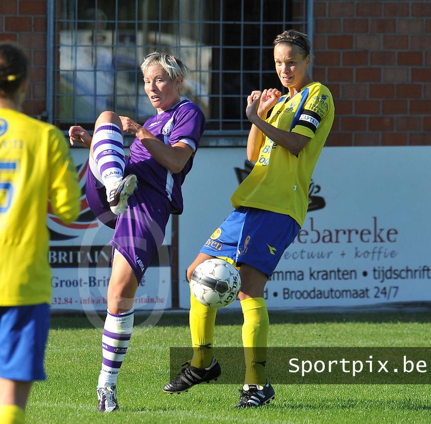 Beerschot Dames - STVV  Sint-Truiden VV Dames :.Tamara Valentijn voor Lore Vanschoenwinkel.foto JOKE VUYLSTEKE / Vrouwenteam.be
