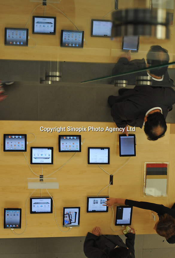 Ipads for sale at the Apple shop in Ginza, Tokyo...............