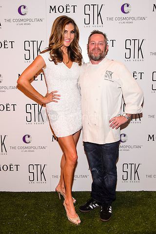 LAS VEGAS, NEVADA - SEPT. 12, 2016 Heather McDonald and Chef Stephen Hopcraft pictured as Comedienne Heather McDonald Hosts STK Las Vegas' Fourth Annual White Party, at The Cosmopolitan of Las Vegas  in Las Vegas, NV, on September 12, 2016 Credit: GDP Photos/ MediaPunch