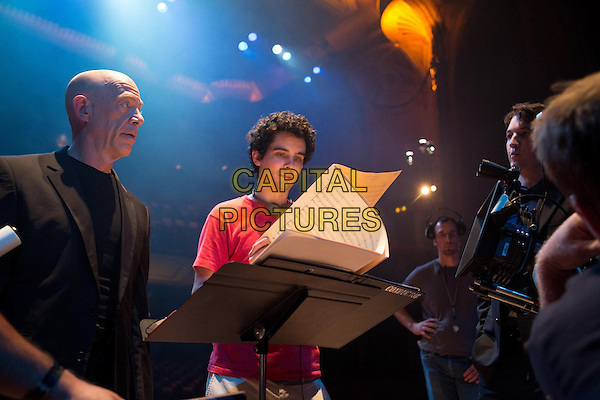 J.K. Simmons, Miles Teller and Damien Chazelle<br /> in Whiplash (2014)<br /> *Filmstill - Editorial Use Only*<br /> CAP/NFS<br /> Image supplied by Capital Pictures
