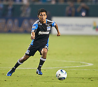 CARSON, CA – August 20, 2011: San Jose Earthquake midfielder Rafael Baca (30) during the match between LA Galaxy and San Jose Earthquakes at the Home Depot Center in Carson, California. Final score LA Galaxy 2, San Jose Earthquakes 0.