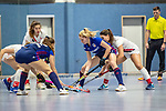 Mannheim, Germany, January 03: During the 1. Bundesliga women indoor hockey match between TSV Mannheim and Mannheimer HC on January 3, 2020 at Primus-Valor Arena in Mannheim, Germany. Final score 4-4. (Photo by Dirk Markgraf / www.265-images.com) *** Lisa Mayerhoefer #17 of Mannheimer HC