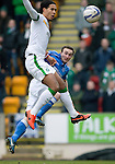 St Johnstone v Celtic.....14.02.15<br /> Chris Kane's header goes just past the post<br /> Picture by Graeme Hart.<br /> Copyright Perthshire Picture Agency<br /> Tel: 01738 623350  Mobile: 07990 594431