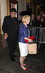 James Earl Jones & wife Cecilia Hart.exiting the Stager Door after  the Broadway Opening Night Performance of 'Gore Vidal's The Best Man' at the Gerald Schoenfeld Theatre in New York City on 4/1/2012