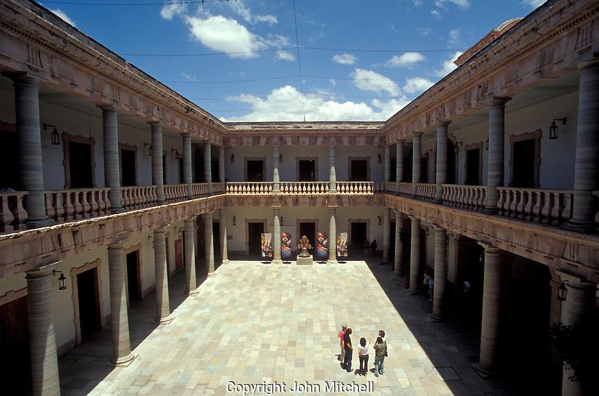 Interior courtyard of the Alhondiga de Granaditas in the city of Guanajuato, Mexico