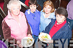 5115-5118.---------.Good cooking.------------.Attending the first cooking demonstration in St James Church Main St Dingle last Saturday afternoon and trying the finish product were L-R Mairin u?i Bheaghlaoilly(Ballyferriter)Nora Casey and Pauline Mc Gonigle from Annascaul with Marian u? Chearna(Ballyferriter)