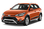 2016 Hyundai i20 ACTIVE Pop 5 Door Hatchback Angular Front stock photos of front three quarter view